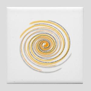 Pi Swirl Tile Coaster