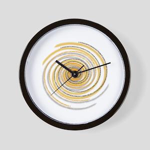 Pi Swirl Wall Clock