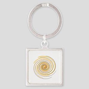 Pi Swirl Square Keychain