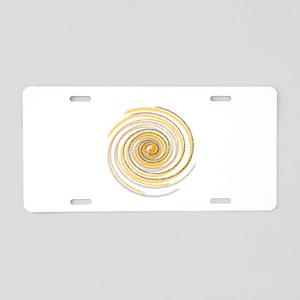 Pi Swirl Aluminum License Plate
