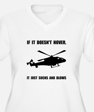 Helicopter Hover Plus Size T-Shirt