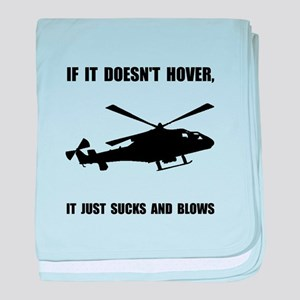 Helicopter Hover baby blanket