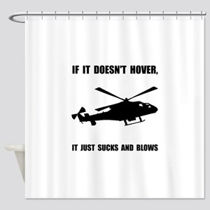 Helicopter Hover Shower Curtain