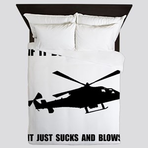 Helicopter Hover Queen Duvet