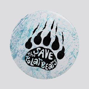 Save Polar Bears Ornament (Round)