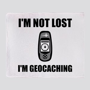 Geocaching Not Lost Throw Blanket