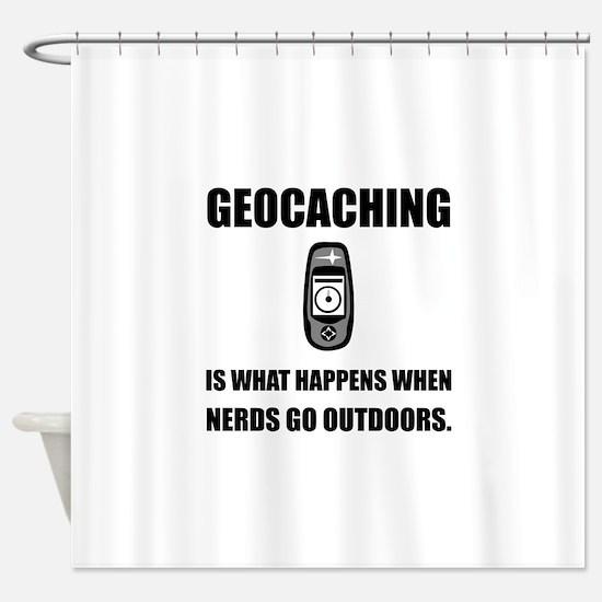 Geocaching Nerds Shower Curtain