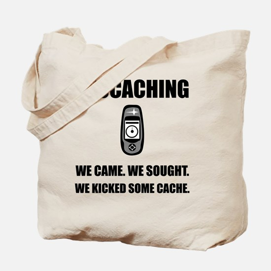 Geocaching Kicked Cache Tote Bag