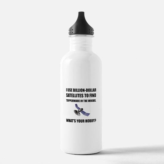 GeoCache Satellites Water Bottle