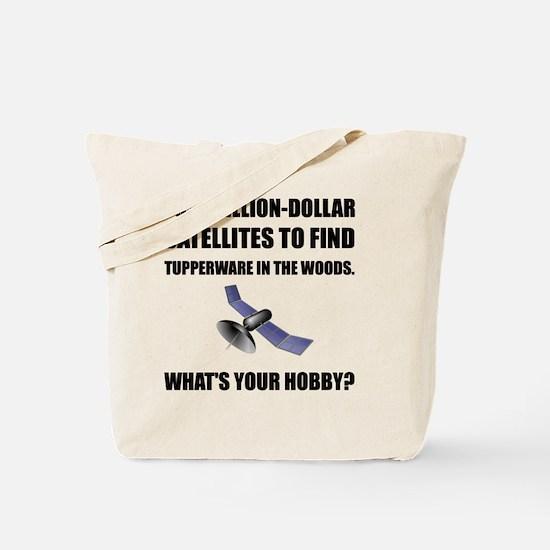 GeoCache Satellites Tote Bag