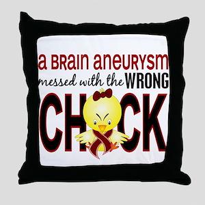 Brain Aneurysm MessedWithWrongChick1 Throw Pillow