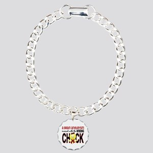 Brain Aneurysm MessedWit Charm Bracelet, One Charm