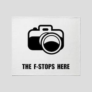F Stop Throw Blanket