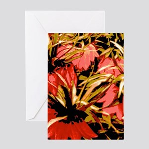 Flowers In Red Greeting Cards