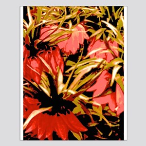 Flowers In Red Posters Small Poster