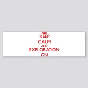 Exploration Bumper Sticker