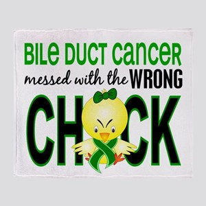 Bile Duct Cancer MessedWithWrongChic Throw Blanket