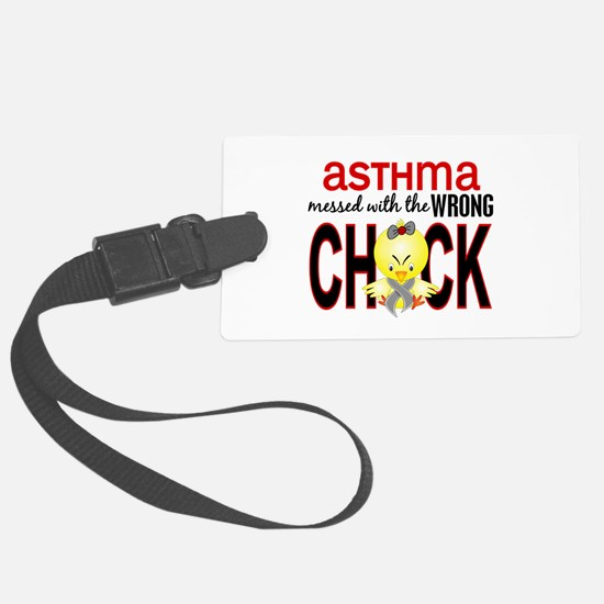 Asthma MessedWithWrongChick1 Luggage Tag