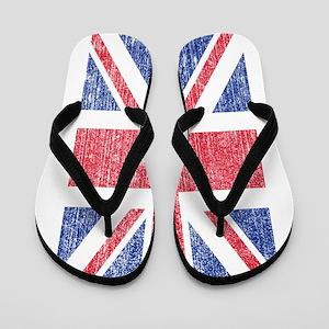 faded Union Jack Flip Flops