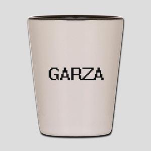 Garza digital retro design Shot Glass