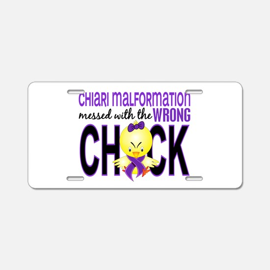 Chiari MessedWithWrongChick Aluminum License Plate