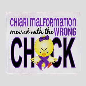 Chiari MessedWithWrongChick1 Throw Blanket