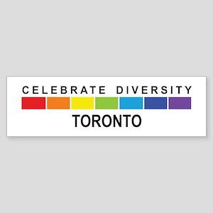 TORONTO - Celebrate Diversity Bumper Sticker