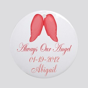 Pink Always Our Angel Ornament (Round)
