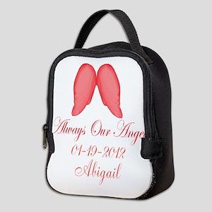 Pink Always Our Angel Neoprene Lunch Bag