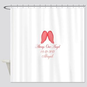 Pink Always Our Angel Shower Curtain