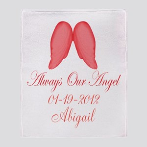Pink Always Our Angel Throw Blanket