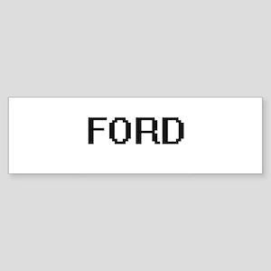 Ford digital retro design Bumper Sticker