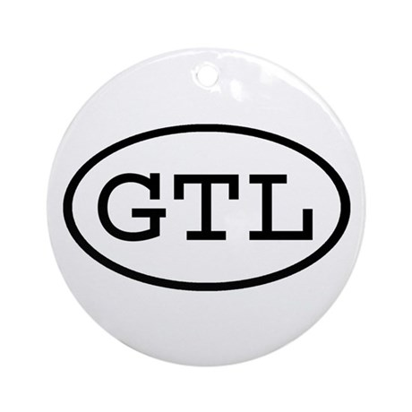 GTL Oval Ornament (Round)