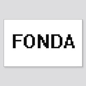Fonda digital retro design Sticker
