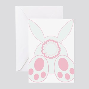 Bunny Back Greeting Cards