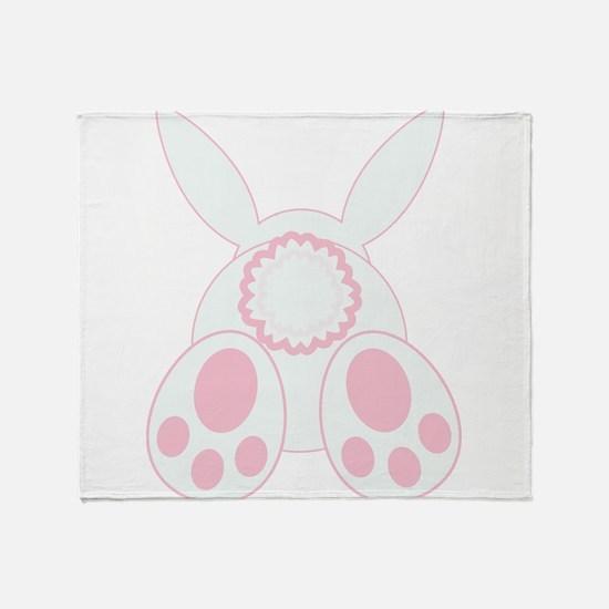 Bunny Back Throw Blanket