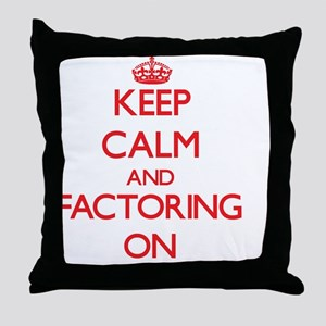 Factoring Throw Pillow