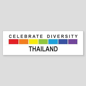 THAILAND - Celebrate Diversit Bumper Sticker