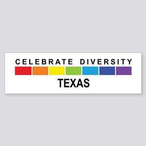 TEXAS - Celebrate Diversity Bumper Sticker