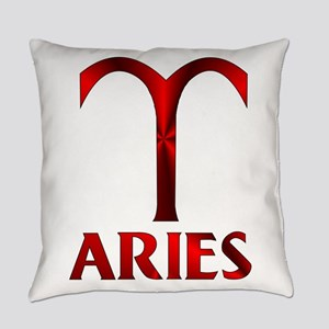 Red Aries Symbol Everyday Pillow