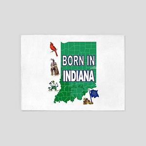 INDIANA BORN 5'x7'Area Rug