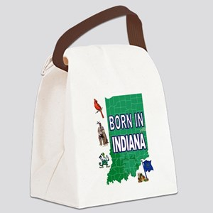INDIANA BORN Canvas Lunch Bag