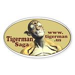 Tigerman Oval Sticker