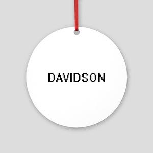 Davidson digital retro design Ornament (Round)