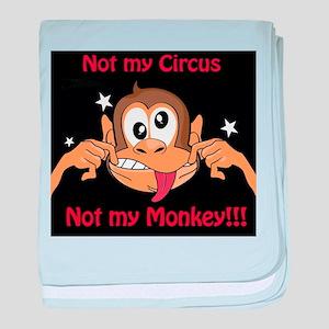 Not My Monkey baby blanket