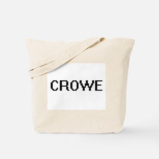 Crowe digital retro design Tote Bag