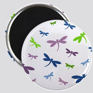 Purple, Green, and Blue Dragonflies Magnet