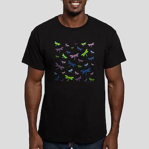 Purple, Green, and Blu Men's Fitted T-Shirt (dark)