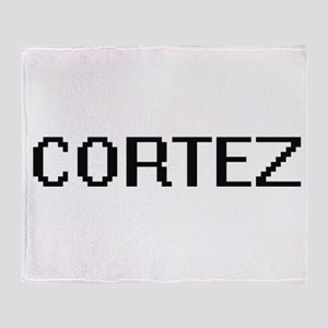 Cortez digital retro design Throw Blanket
