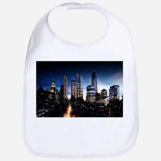 City Skyline at Night Bib